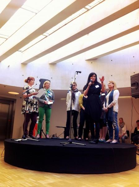 Projektipäälliköt esittelevät hankkeensa. Äänessä Vyyhti-projektin Susanna Snellman.