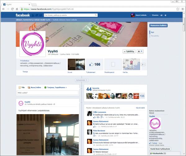 Vyyhti-projektin Facebook-sivu