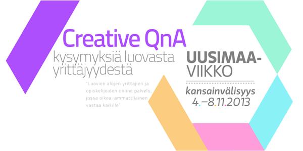 Creative QnA kutsuu kysymään