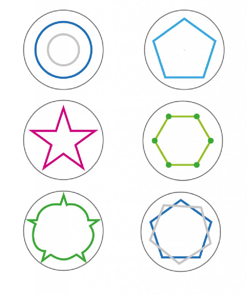 Kuva 8: Vyyhtipeliin suunniteltuja symboleita.